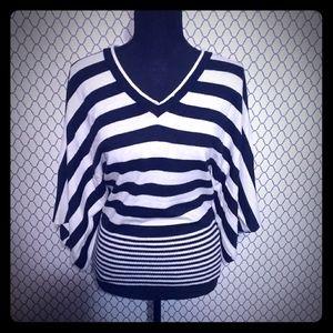 BCBGMaxAzria bell sleeve sweater top